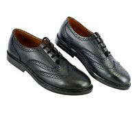 Ghillie Brogues Black Leather Ghillie Brogues Scottish Kilt Shoes UK Sizes 6-11