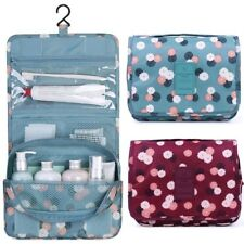 Portable Travel Cosmetic Bag Women Makeup Pouch Toiletry Hanging Organizer Bag