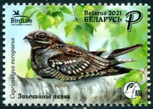 BELARUS 2021 BIRD OF THE YEAR EUROPEAN NIGHTJAR COMP. SET OF 1 STAMP IN MINT MNH