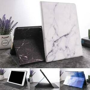 Marble Leather Flip Smart Stand Case Cover For iPad 2 3 4 5 6 7th/Air/Mini/Pro