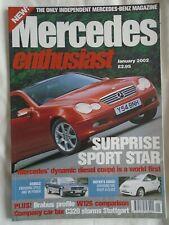 Mercedes Enthusiast Jan 2002 Issue 3 A Class, 450SLC, W126, Brabus profile