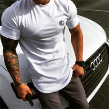 Men Slim Fitness T Shirts Bodybuilding Sports Gym Wear Quick Dry Workout Clothes