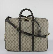 Gucci Men's Beige/Ebony Coated Canvas Briefcase 201480 KGDHG 9643