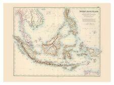 Old Vintage Decorative Map of Malay Archipelago Fullarton 1872