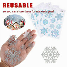 78PCS Christmas Snowflake Window Stickers Ornament Xmas Wall Decal Home Decor-WI