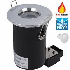 1/4/8x Waterproof Fire Rated GU10 LED Bathroom Downlight Spotlight Polish Chrome