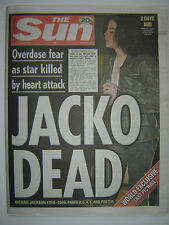 """MICHAEL JACKSON - """"The Sun"""" - 26th June 2009 - Announcement of death - 7 pages"""