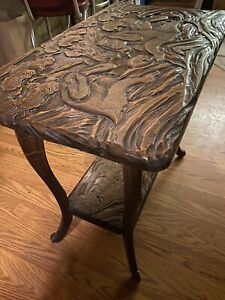 Hand Carved Liberty & Co. Asian Side Table