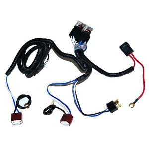 Ceramic H4 Headlight Relay Wiring Harness 2 Headlamp Light Bulb Socket Plugs 7X6