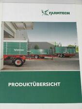 FARMTECH Produktübersicht, Anhänger, Muldenkipper, Dungstreuer Prospekt ( 707 )