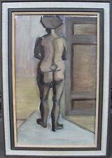 Weiblicher Rückenakt, unleserlich signiert, datiert 1954?