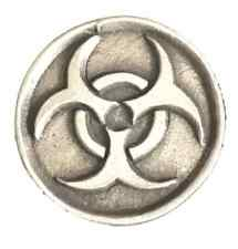 Bio hazard Handmade From English Pewter Lapel Pin Badge