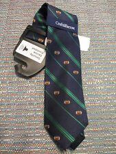 Croft & Barrow Silk Blend Navy Stripe Football Novelty Neck Tie SR$34NEW