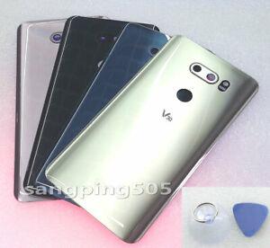 E Battery Back Cover Glass with Camera Lens For LG V30 V30+ Plus