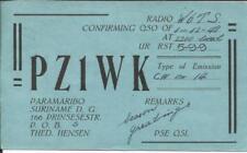 Suriname Sc#216(single frank) Paramaribo 15/12/48 RADIO QSL Postcard to USA