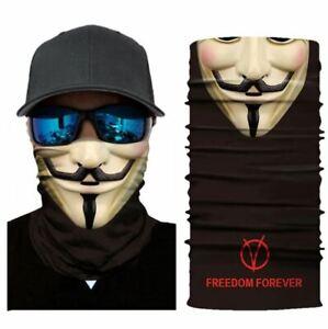 V for Vendetta Headband Bandana Face Mask Scarf Anonymous Guy Fawkes - UK Seller