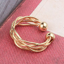 Adjustable Knuckle Rings Open Wide Mid Finger Thumb Ring Gold Alloy Metal Rings