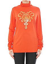 Damen BPC Rollkragen Pullover Pulli Shirt Langarm Nieten verziert Orange 903760