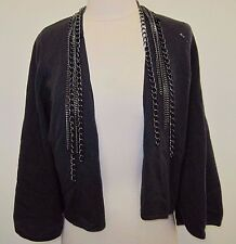 LUTZ & PATMOS CHAIN BUTTERFLY SLATE WOOL / CASHMERE CARDIGAN SIZE M,NWT !!$595