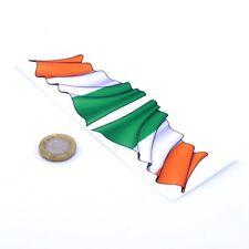 Ireland Waving Flag Stickers x2 80mm Car Motorcycle Helmet Vinyl Decals Irish