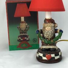 Christmas Fantasy Ltd Santa Holding Garland Lamp Light Box Wonderland Lamp