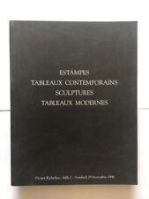 ESTAMPES TABLEAUX CONTEMPORAINS SCULPTURES CATALOGUE DROUOT 1996 ILLUSTRE