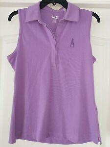 EP Pro Purple Sleeveless Polo Golf Top Sz M