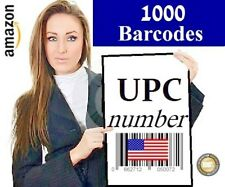 1,000 Legal UPC number EAN Number bar code UPC numbers UPC barcodes UPC Amazon