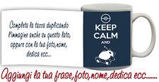 Tazza keep Calm and ZZZ con gatto Personalizzata con nome,foto,logo ecc Idea Reg
