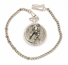 Ice Hockey P Pocket Watch Gift Boxed With FREE ENGRAVING Hockey Gift