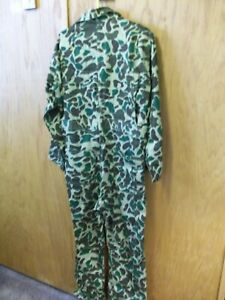 WEATHERITE CAMOUFLAGE COVERALL SMALL COTTON NEW