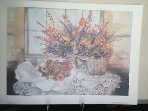 Linda Baker Lace And Wicker Michigan Art Print Victorian Floral Flowers Porch