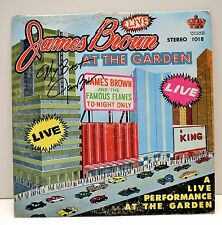 """JAMES BROWN """"AT THE GARDEN' LIVE ALBUM SIGNED AUTOGRAPHED RECORD W/ COA"""