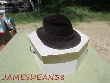 7 1/8 G B BORSALINO FU LAZZARO ALESSANDRIA SOFT BROWN FELT HAT IN BOX FEDORA