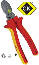 CK COMBICUTTER 1 MAX 180mm Redline VDE Side Wire/Cable Cutter Plier T39071-1180