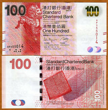 Hong Kong, $100, 2012, SCB, P-299-New Date, UNC