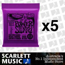 5x Ernie Ball Power Slinky 11-48 Electric Guitar Strings *SET OF 5 PACKS*