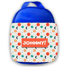 Personalised Kids Lunch Bag Any Name Space Design Childrens Boys School Snack 5