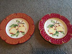 Tremezzo Pear Plate Princess House Collection Set Of 2 Ceramic