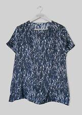GERARD DAREL pour femme Black & Soie Bleu Imprimé Chemisier Top-FR 38/UK 10 -