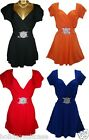 Plus size 12-26 UK Ladies womans party evening summer holiday clubbing long top