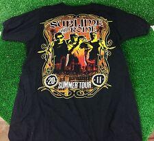 Sublime with Rome Men's T-Shirt 2011 Summer Tour Black Concert Music Small Men's