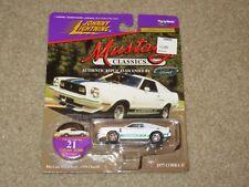 Johnny Lightning Mustang Classics 1977 Ford Mustang Cobra II 2 White MOC 1997