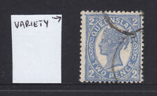 Qld: 1897-1911 4Th Sideface Qv 2/ Blue Sg254-5 Used With Varieties.