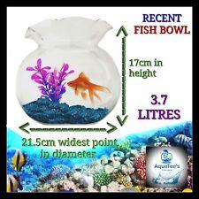RECENT FLUTED Fish bowl 3.7 LITER NANO AQUARIUM FISH TANK NO WATER PUMP FILTER