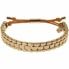Michael Kors Mkj2052 Rose Gold Brass Watch Link Bracelet W MK Padlock Charm