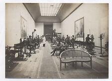 PHOTO ANCIENNE Salle de sport Musculation Militaire Soldat Entraînement 1910