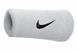 Nike- Swoosh Doublewide Wristband- White - Sportswear