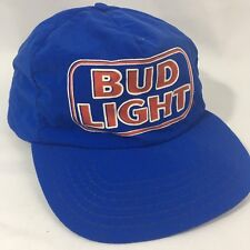 Vintage Budweiser Budlight snapback Blue hat Winter lined Thinsulate Usa