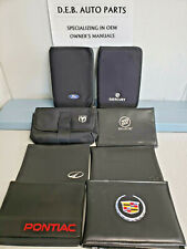 Lot of 8 Automobile Owners Manual Cases